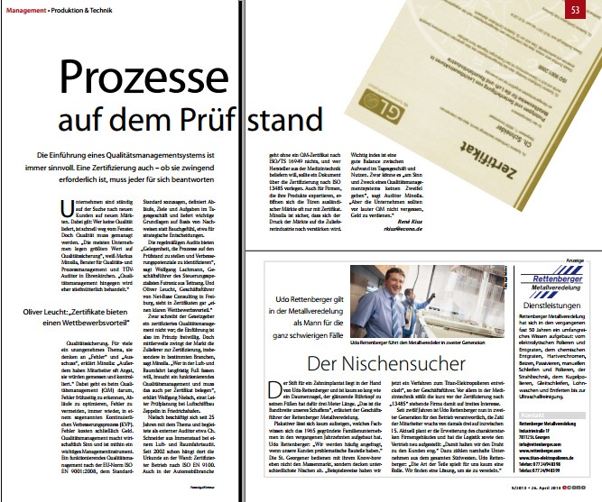 Easy Qualitymanagement-Presse